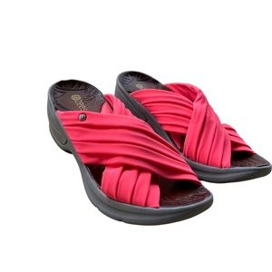 Bzees Pink Stretch Knockout Slides